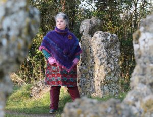 Chloe at the Rollright Stones Circle