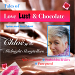 Cover image from spoken word CD Tales of Love, Lust & Chocolate