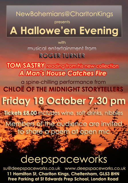 New Bohemians Charlton Kings details of Friday 18 October event 7.30pm